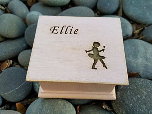 Custom engraved wooden ballerina, ballet dancer music box, personalized with a name on top and for a special request the bottom side of the box as well. Great gift for daughter. by Simplycoolgifts