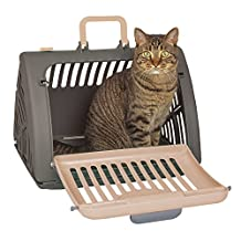 SportPet Designs SP-0212-CS01 Front Door Plastic Collapsible Cat Carrier, Large