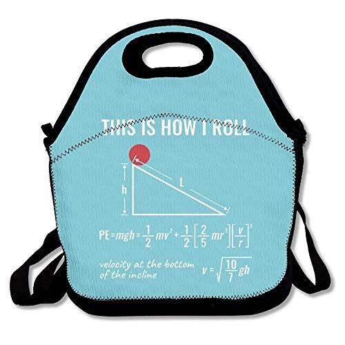 This Is How I Roll Physics Fashion Lunch Bag Reusable Lunch Tote Box Handbag For Womens Mens Kids
