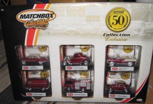 rsary Collection Exclusive Set: 1955 Cadilac Fleetwood, 1933 Ford Coupe, 1955 Chevrolet Bel Air, 1967 Volkswagen, 1998 Dennis Sabre, 1962 Volkswagen ()