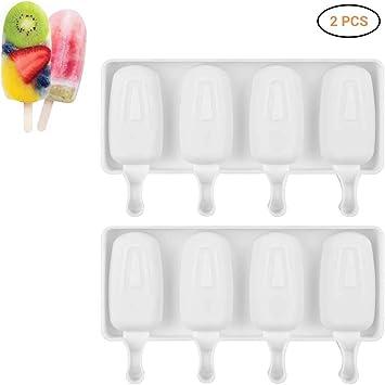 2 moldes de silicona para helado, para congelador, para hacer ...