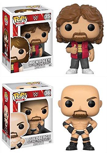 Funko POP! WWE: Mick Foley + Goldberg - Stylized Movie Vinyl Figure Set NEW by POP