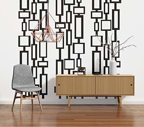 Mid Century Modern Decor, Modern Wall Decals, Mid Century Modern Wall Art,  Retro Wall Decal, Geometric Wall Decals, Modern Nursery Decor
