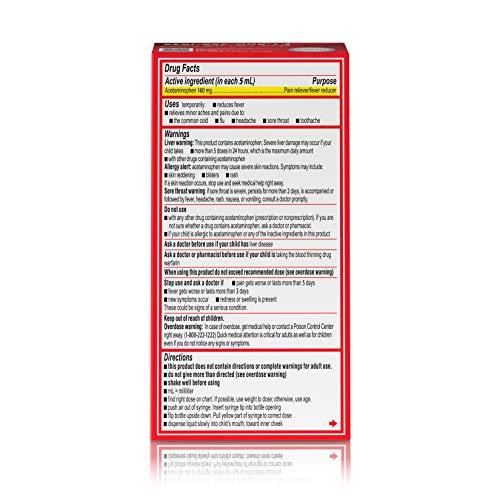Infants' Tylenol Acetaminophen Liquid Medicine, Grape, 1 fl. oz