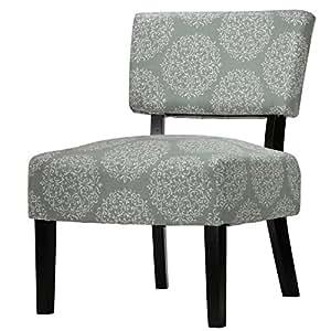 Cortesi Home Largo Damask Armless Accent Chair