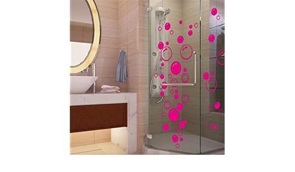Amazon.com: JEWH New Bubble Wall Art Bathroom Window Shower Tile Decoration Decal Kid Wall Sticker 3 Color 701: Home & Kitchen