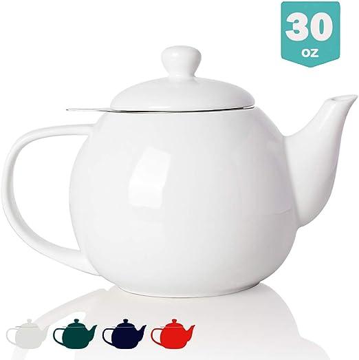 Amazon.com: Sweejar - Tetera de cerámica con infusor ...