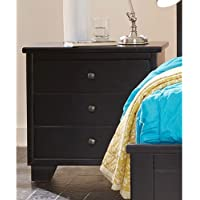 Progressive Furniture Diego Nightstand Black, 25W x 15D x 25H, Black