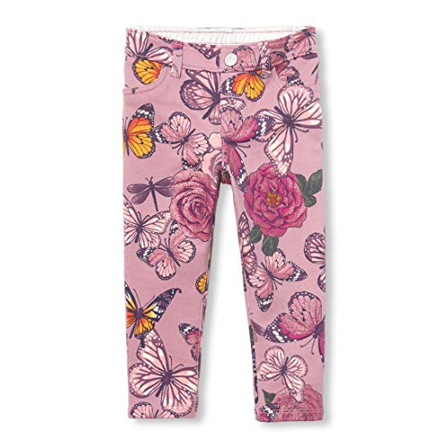 The Children's Place Girls' Toddler French Terry Jeggings, Strong iris 4T