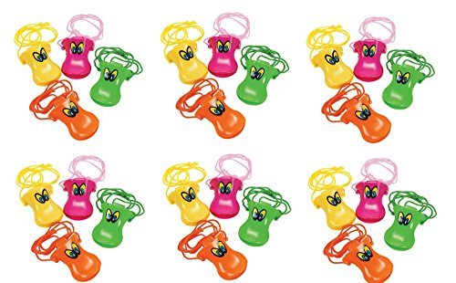 (PLASTIC DUCK BEAK WHISTLES (2 DOZEN) -)
