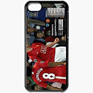 Personalized iPhone 5C Cell phone Case/Cover Skin 2 Manchester United Football Black