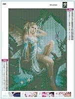 5D Taladro Completo Pintura Diamante patr/ón de Hadas Punto de Cruz DIY Rhinestone Kit de Bordado Montaje en Pared Arte artesan/ía decoraci/ón del hogar