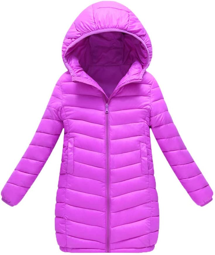 Longra/® Kids Girl Boy Hooded Coat,Winter Warm Long Section Jacket Thick Warm Windbreaker Outerwear Clothes for 2-7 Years