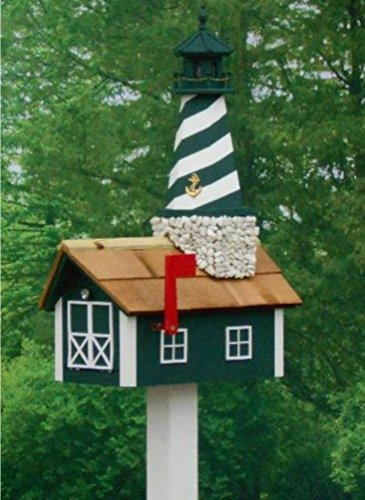 Amish Made Lighthouse Cape (Amish Made Lighthouse Mailbox in HUNTER CAPE HATTERAS)