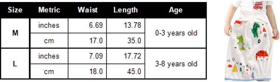 Bauchschutz 360 Grad seitlicher Auslaufschutz M TUP T/öpfchentraining hohe Taille wiederverwendbar wasserdicht Baby-Wickelrock f/ür Zuhause und Reisen Windelrock