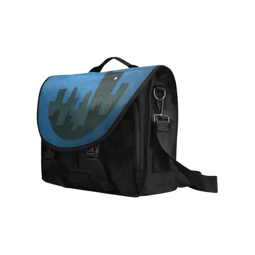 Kitchor Custom A Moonlit Night Oxford Laptop Messenger Shoulder bag