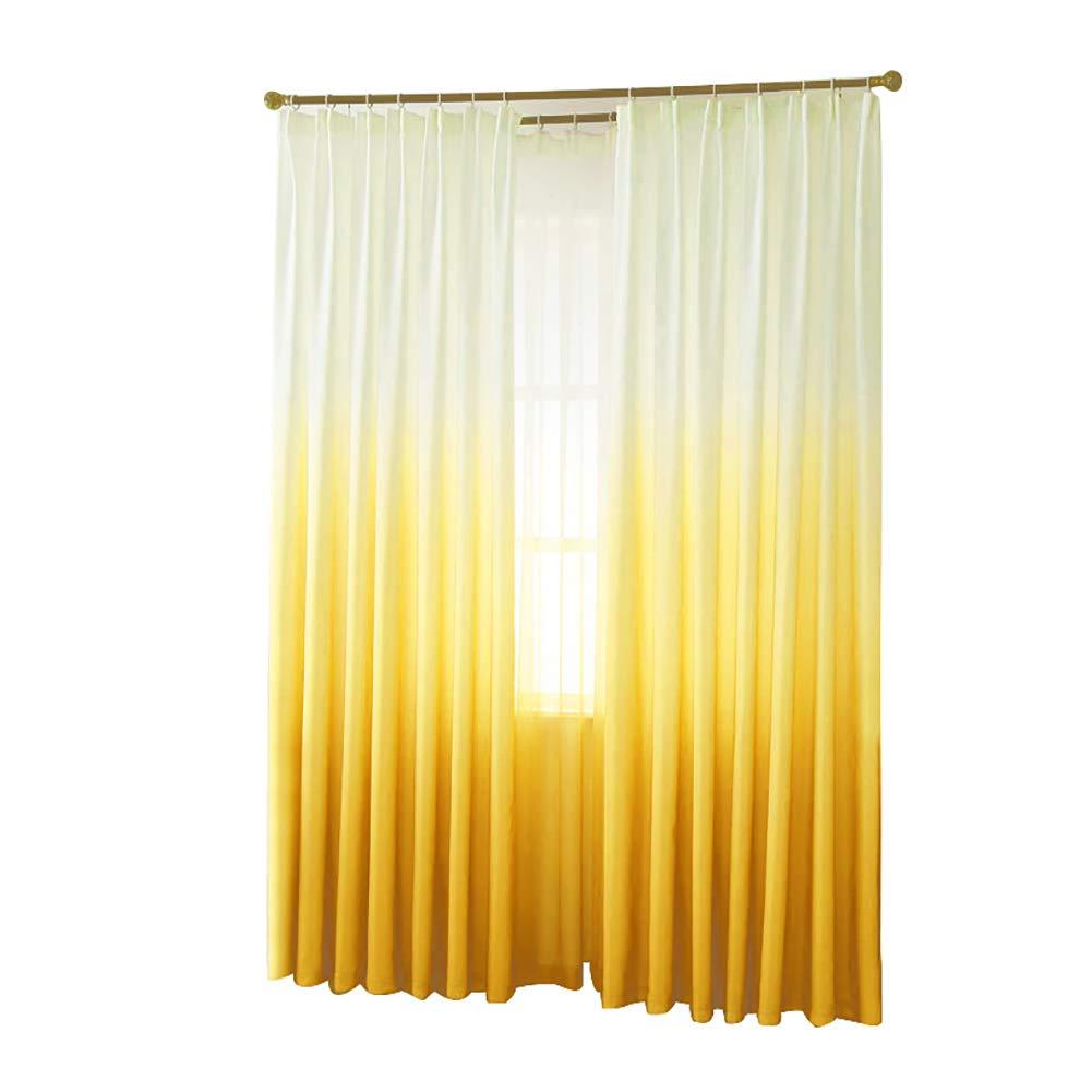 yanQxIzbiu Window Curtains, Blackout Curtains,Elegant Curtain Window Door Valance Drape Divider Bedroom Home Room Shade Decor - Yellow
