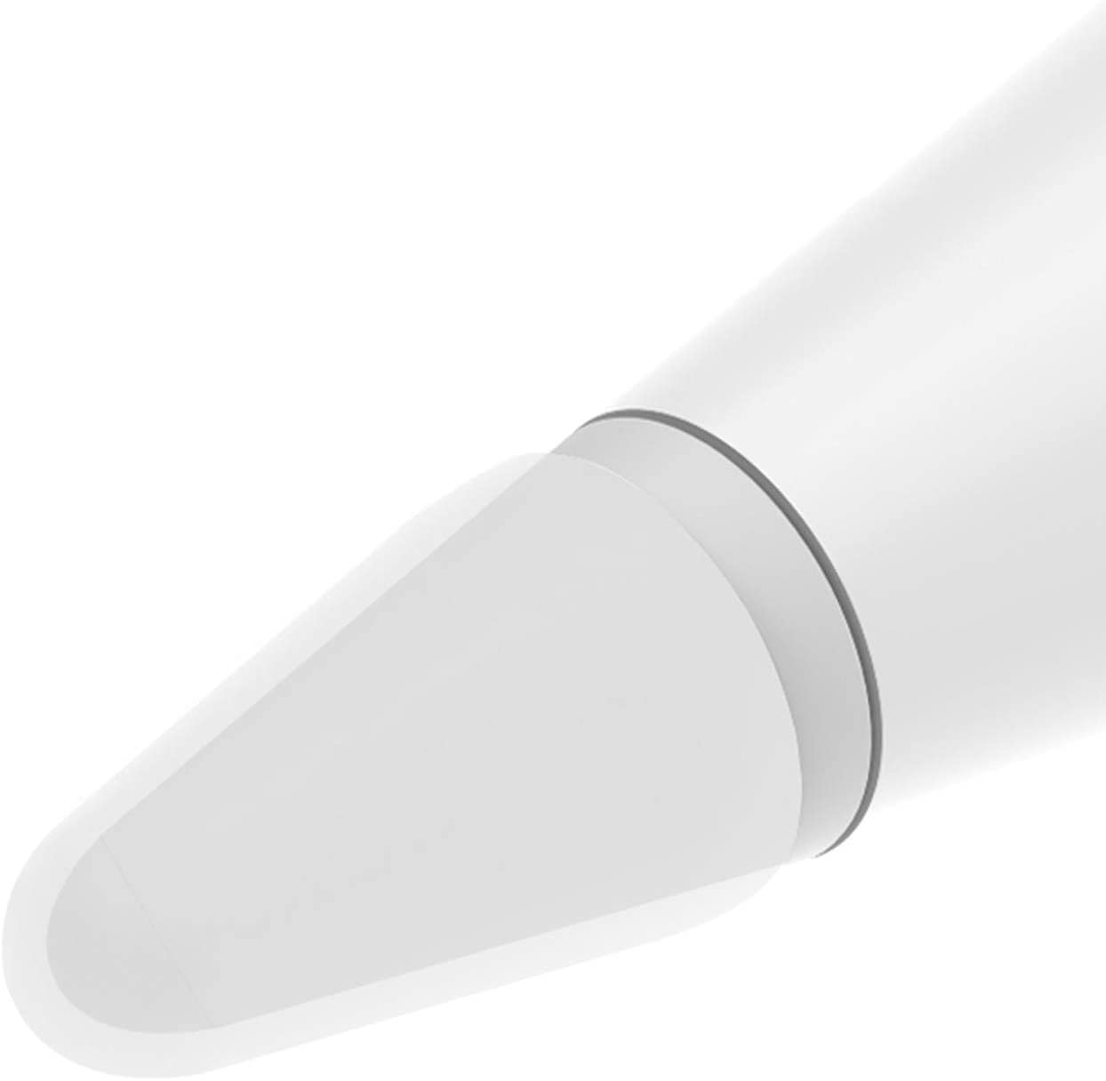 BLEAKTEIR Apple Pencil Nibs Writing Cover for Apple Pencil Protector Silicone Cover for Noiseless Drawing Compatible with IPencil 1&2 (Semitransparent-White)