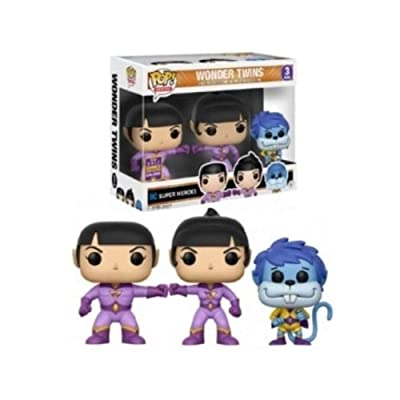 Funko 14613 – Wonder Twins Pop Vinyl Figure Zan, Jayna and Gleek 3 Pack SDCC Summer Convention Exclusives: Toys & Games