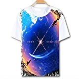 Gumstyle Anime Kiminonawa Your Name T-Shirt Cosplay Costume Short Sleeve Tee Unisex Hipster Tops White 15 XL