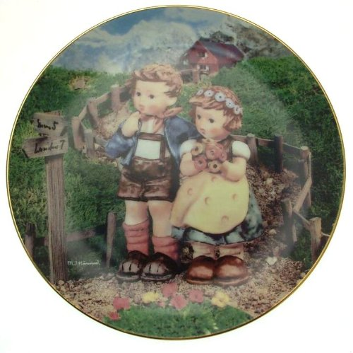 c1990 Danbury Mint Hummel Little Companions Country Crossroads plate NEGR68
