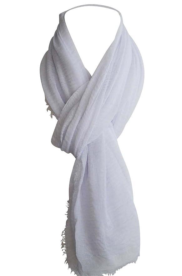 KARL LOVEN Femme - Foulard - Froissé - pashmina - écharpe - cache-col,  Blanc, 1m90  Amazon.fr  Vêtements et accessoires 989d160c28c