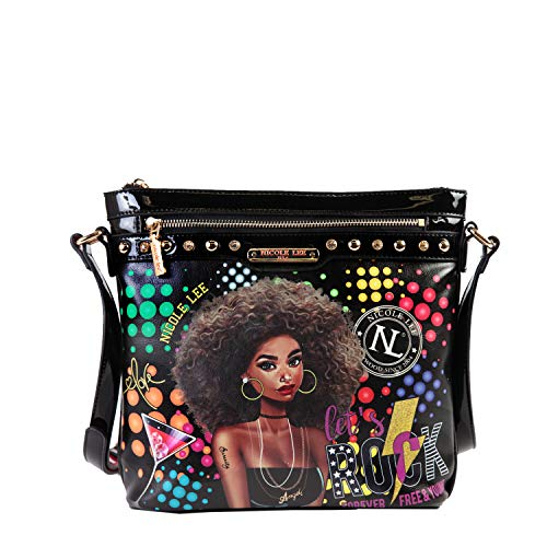 Printed Classic Crossbody Bag For Women With Zipper Closure And Detachable Shoulder Strap (Friday Night Fun)