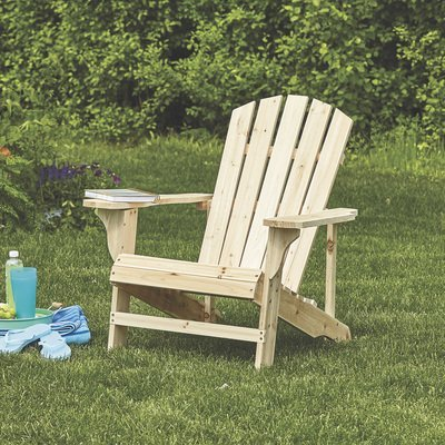 Cedar Lounge Chair - Leigh Country Fir Unpainted Adirondack Chair