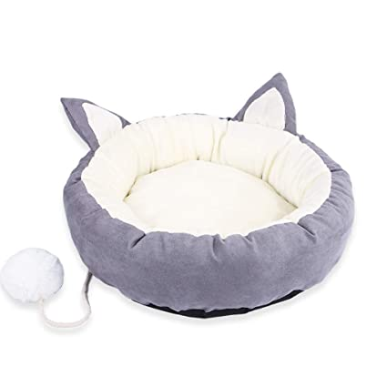 KYCD Cálida Cama de Gato, Cama de Felpa acogedora para Mascotas, Cama de Mascota