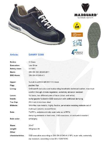 Maxguard DANNY D380, Unisex-Erwachsene Sicherheitsschuhe, Blau (Blau), 47 EU