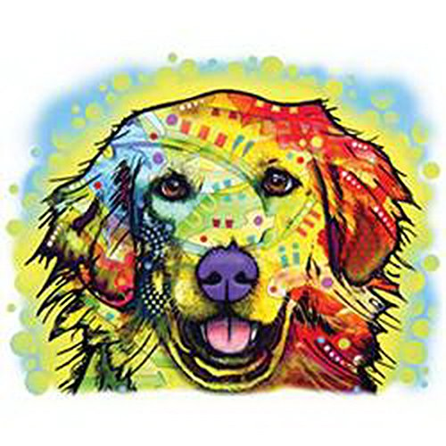 Pop Art Canvas ::: Golden Retriever ::: peppige Umhängtasche mit Art Style Hunde Motiv