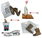I Love my Shoes Shoes Bags Plastic Zip Lock 3 Sizes in 1 Set of 12 Pieces, for travel or dust cover,Storage organizer Boots/Ladies'/Gentelmen's Shoes 4 pieces/1 size by Spicy Served.