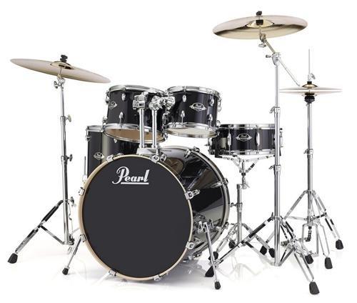 Pearl Export EXL 5-Piece Drum Set w/ Hardware in Black Smoke Finish