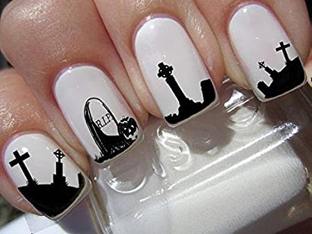 Halloween nail stickers graveyard gothic nail art design set n169 halloween nail stickers graveyard gothic nail art design set n169 publicscrutiny Choice Image
