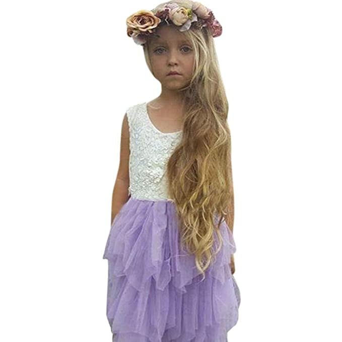 URSING Baby Mädchen Blumenspitze Prinzessin Brautjungfer Festzug ...