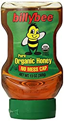 Billy Bee 100% Pure Organic Liquid Honey, 13 oz. Upside Down Squeeze Bottle