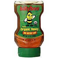 Billy Bee Organic Liquid Honey Upside Down Squeeze, 13 Ounce