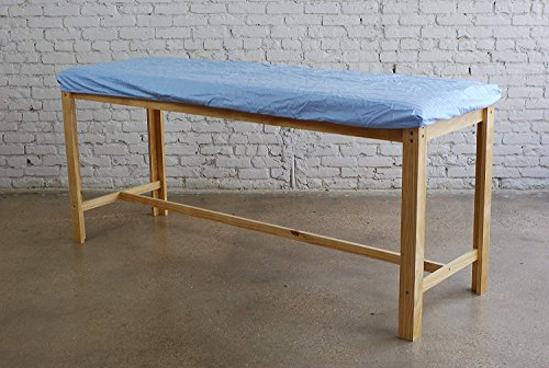 Classic Treatment Table - Sleekform Treatment Table - Stable Wood Frame with H-Brace - High-Density Seamless Foam Top Cushion - For Massage, Exam, Physical Therapy - Extra 100% Cotton Cover Included