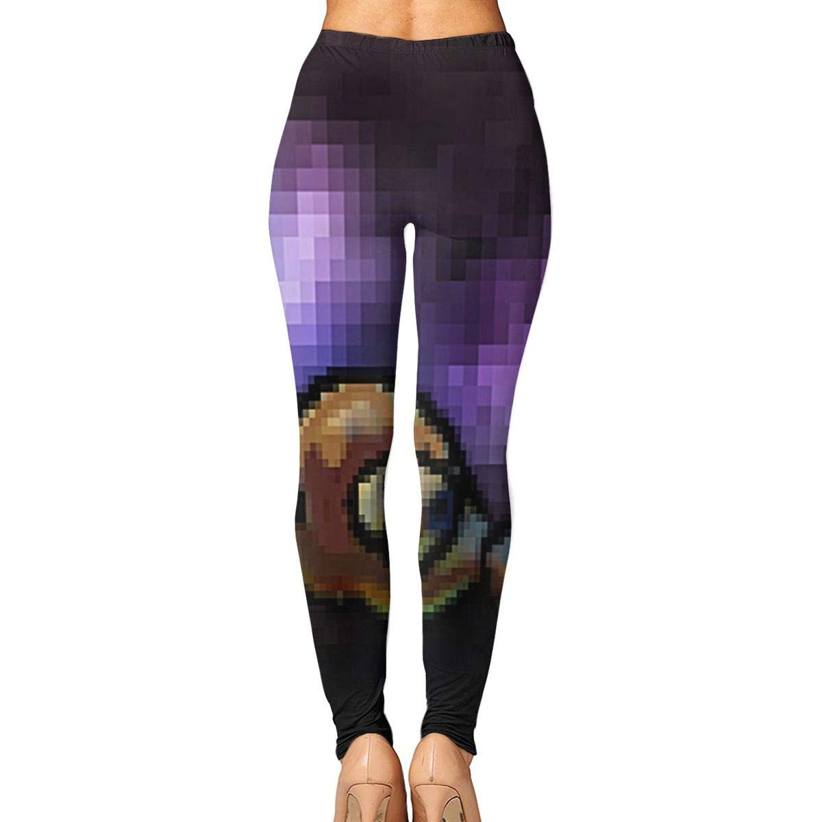 11c5981f1552f6 Amazon.com  Printed Leggings Full-Length Astro Turtle Extra Soft Yoga Pants   Clothing