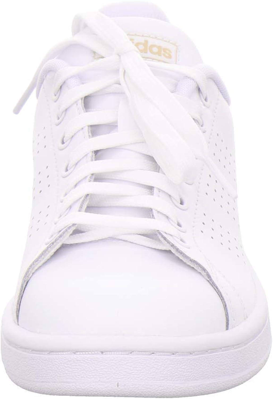 adidas Advantage, Chaussures de Fitness Femme Blanc Ftw Bla Ftw Bla Co B Met 000
