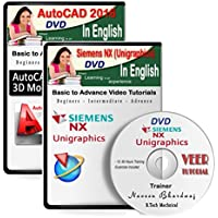 Veer Tutorial AutoCAD 2016 + Unigraphics (Siemens NX) 9 Video Training (2 DVDs, 20 Hrs) in English