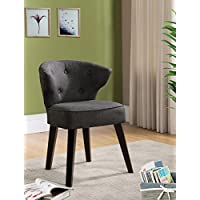 Kings Brand Furniture Casual Accent Chair, Grey/Dark Cherry