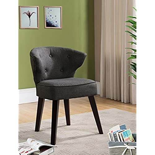 High Quality Kings Brand Furniture Casual Accent Chair, Grey/Dark Cherry