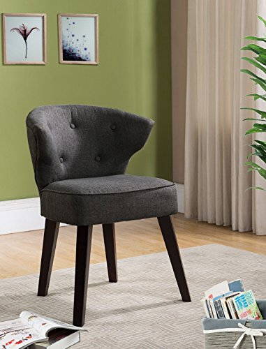 Cheap Kings Brand Furniture Casual Accent Chair, Grey/Dark Cherry