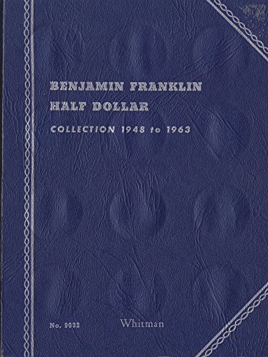 1948-DATE 1957 BENJAMIN FRANKLIN HALF DOLLAR ALBUM TRI-FOLD WHITMAN No 9032 #2