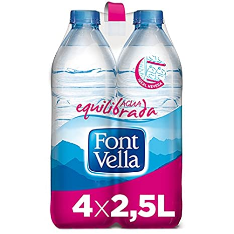 Font Vella Agua Mineral Natural Ideal Nevera - Pack 4 x 2,5 l: Amazon.es: Amazon Pantry