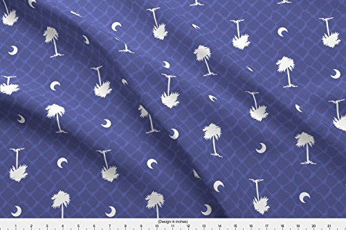 Spoonflower South Carolina Fabric Sc Palmetto Trees by Rick