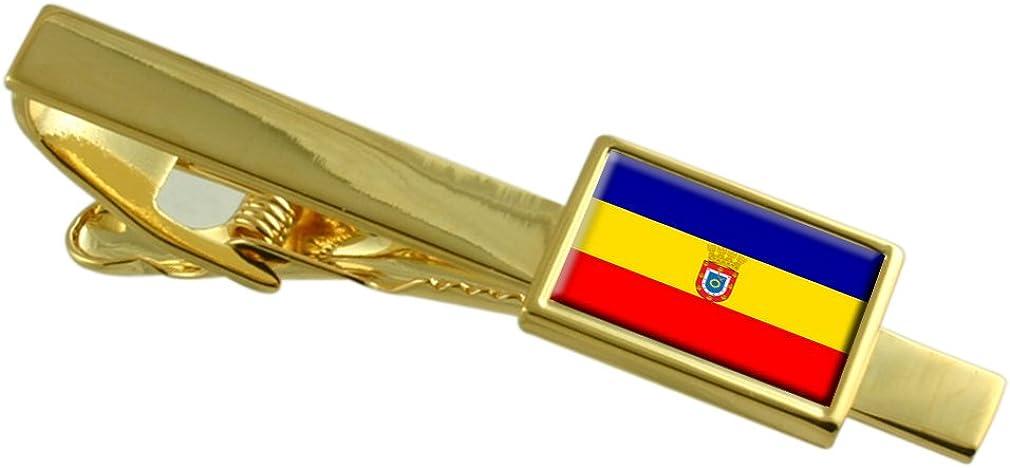 Pudahuel City Chile Flag Gold-tone Tie Clip