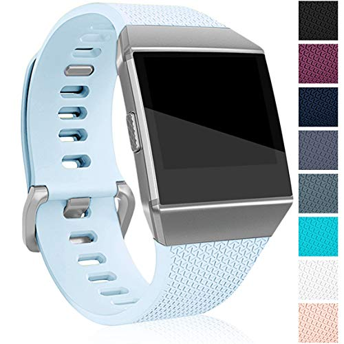 Maledan Bands Compatible with Fitbit Ionic, Classic Accessory Wristbands Band Replacement for Fitbit Ionic Smart Watch, Aqua, Small