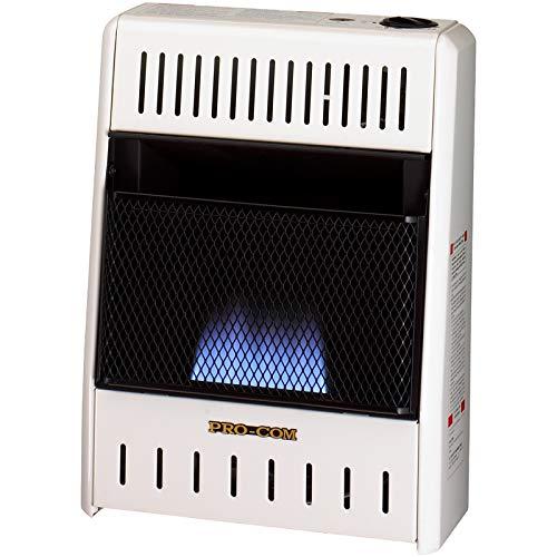 ProCom MN060HBA Natural Gas Ventless Blue Flame Heater - 6,000 BTU, White by ProCom